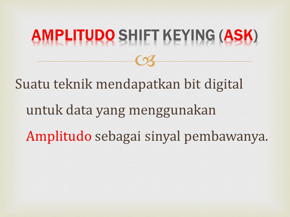 Amplitudo Shift Keying (ASK)