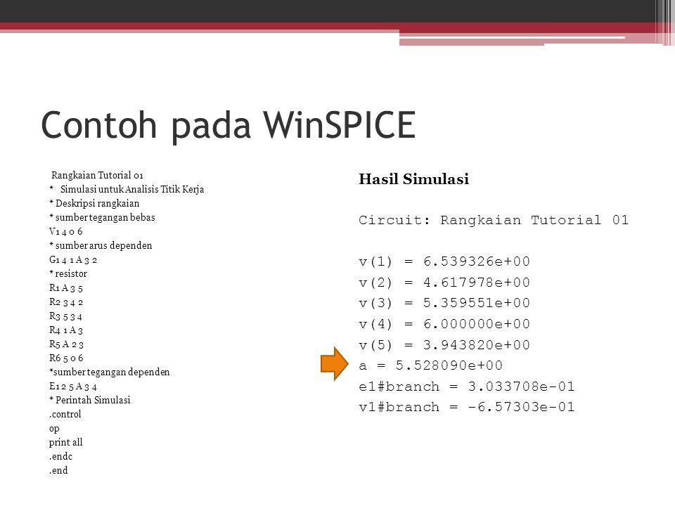 Contoh pada WinSPICE