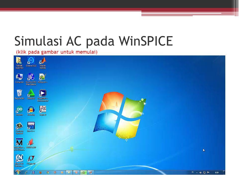 Simulasi AC pada WinSPICE (klik pada gambar untuk memulai)