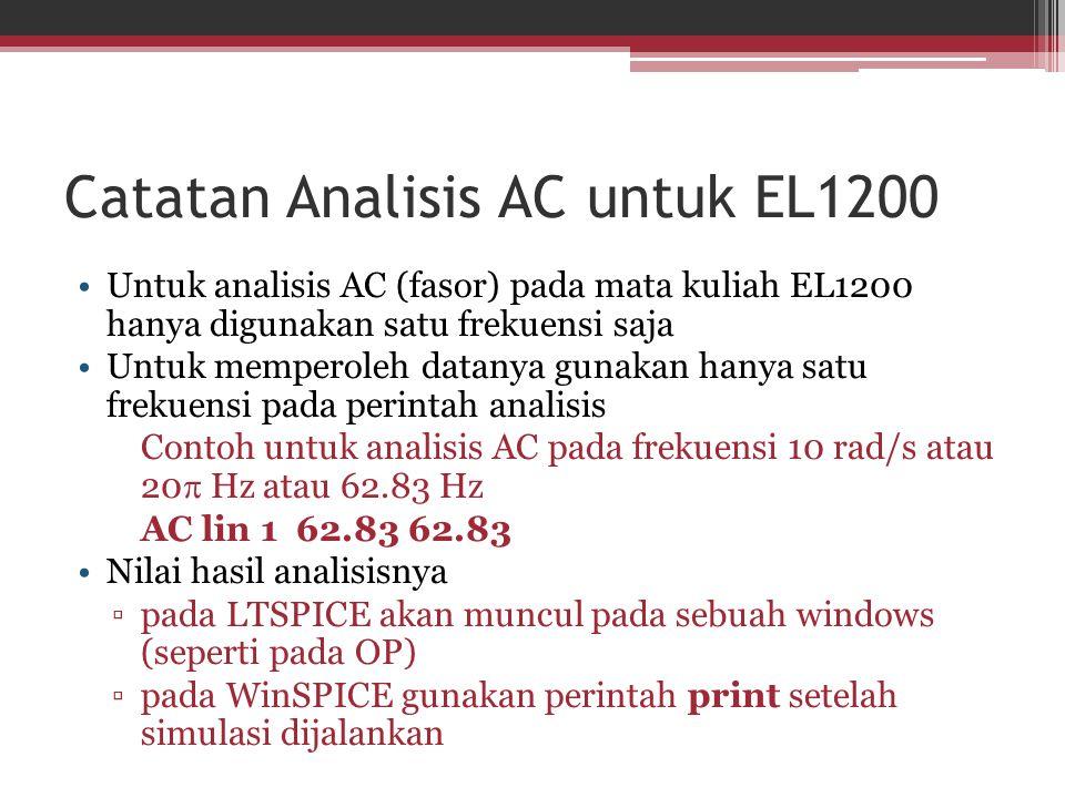 Catatan Analisis AC untuk EL1200