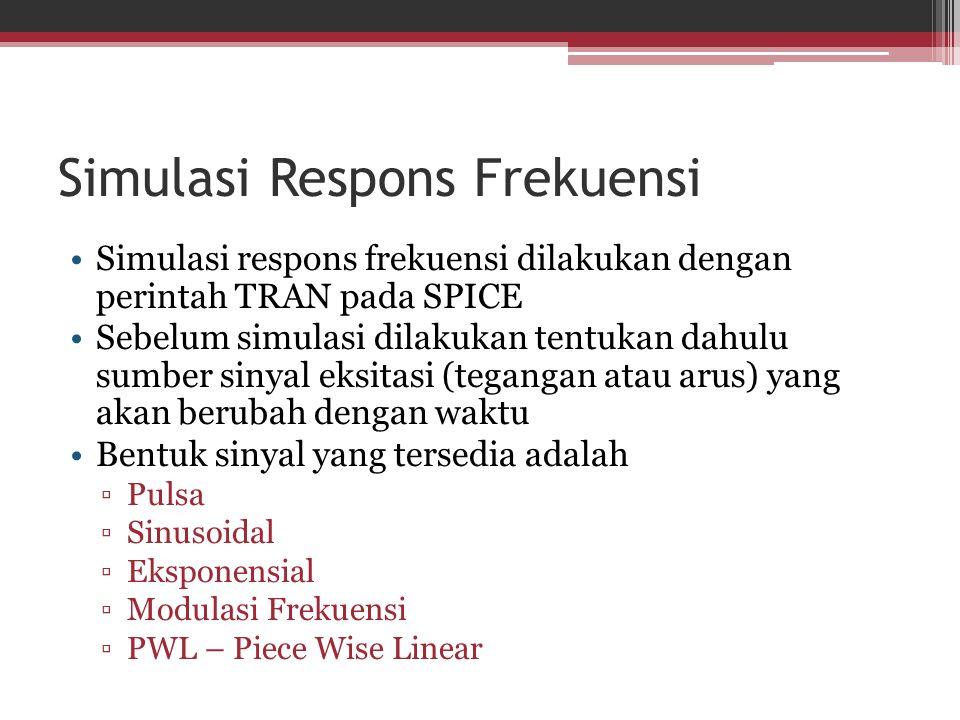 Simulasi Respons Frekuensi
