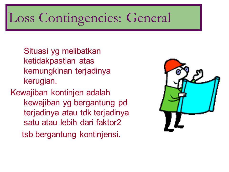 Loss Contingencies: Accrual