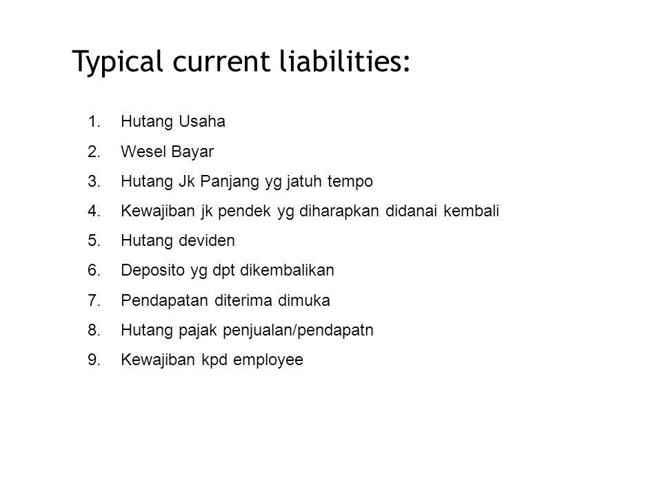 Accounts Payable Hutang Usaha atau hutang dagang are: