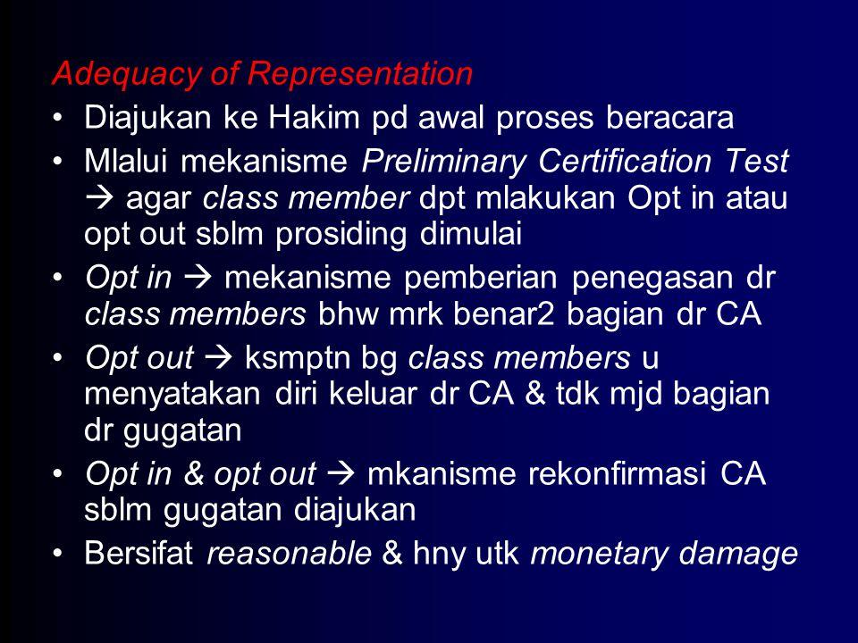 Adequacy of Representation