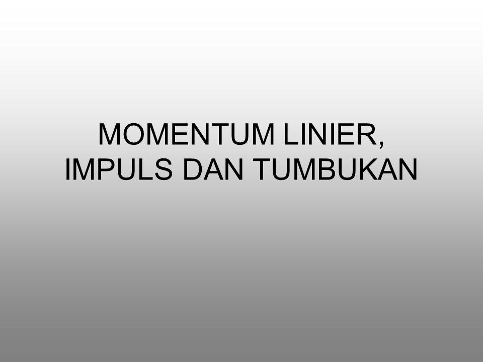 MOMENTUM LINIER, IMPULS DAN TUMBUKAN