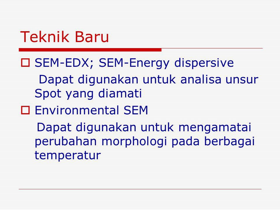 Teknik Baru SEM-EDX; SEM-Energy dispersive