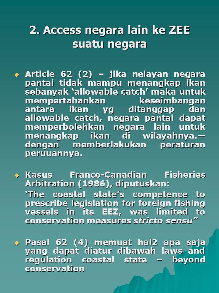 2. Access negara lain ke ZEE suatu negara