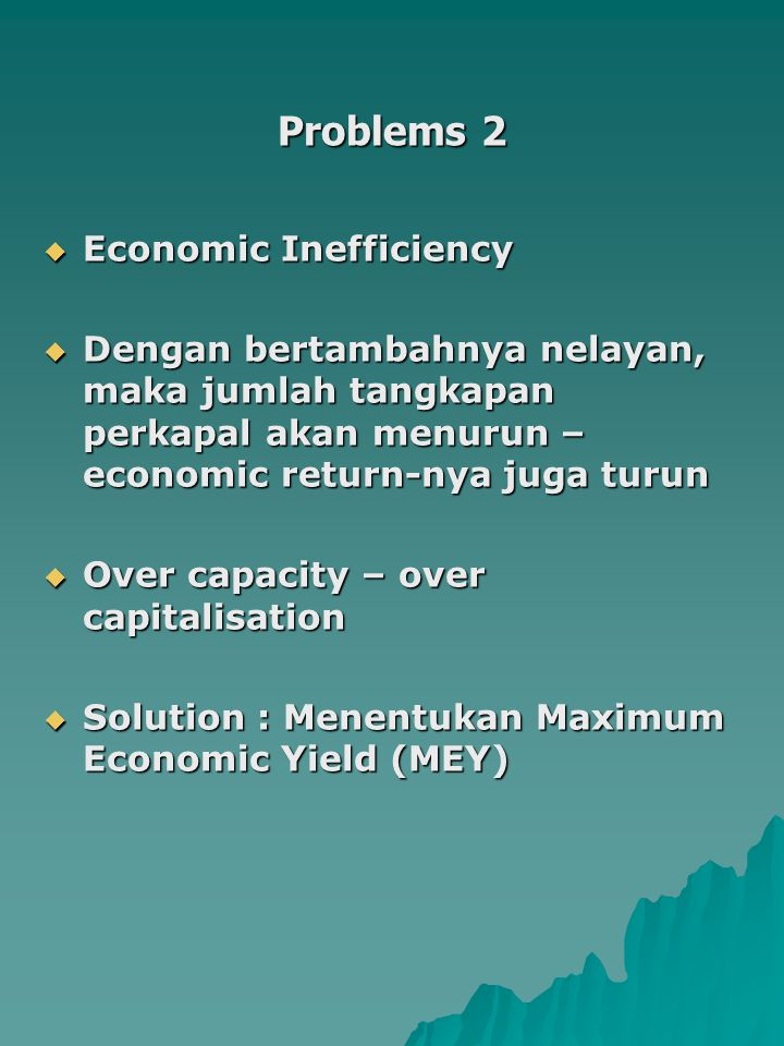 Problems 2 Economic Inefficiency