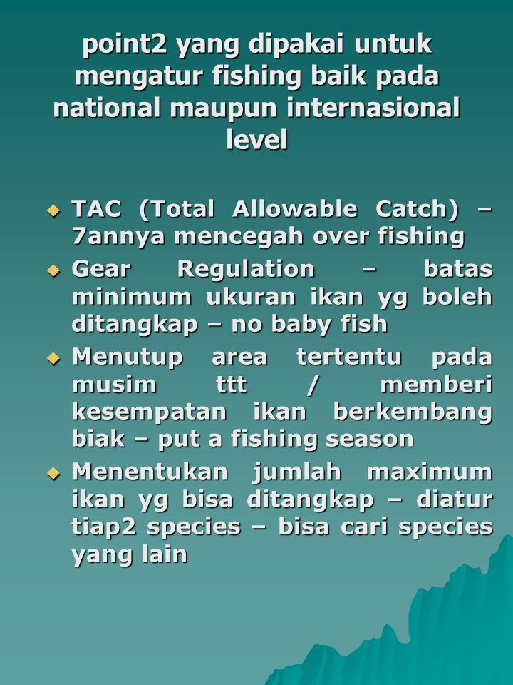 point2 yang dipakai untuk mengatur fishing baik pada national maupun internasional level
