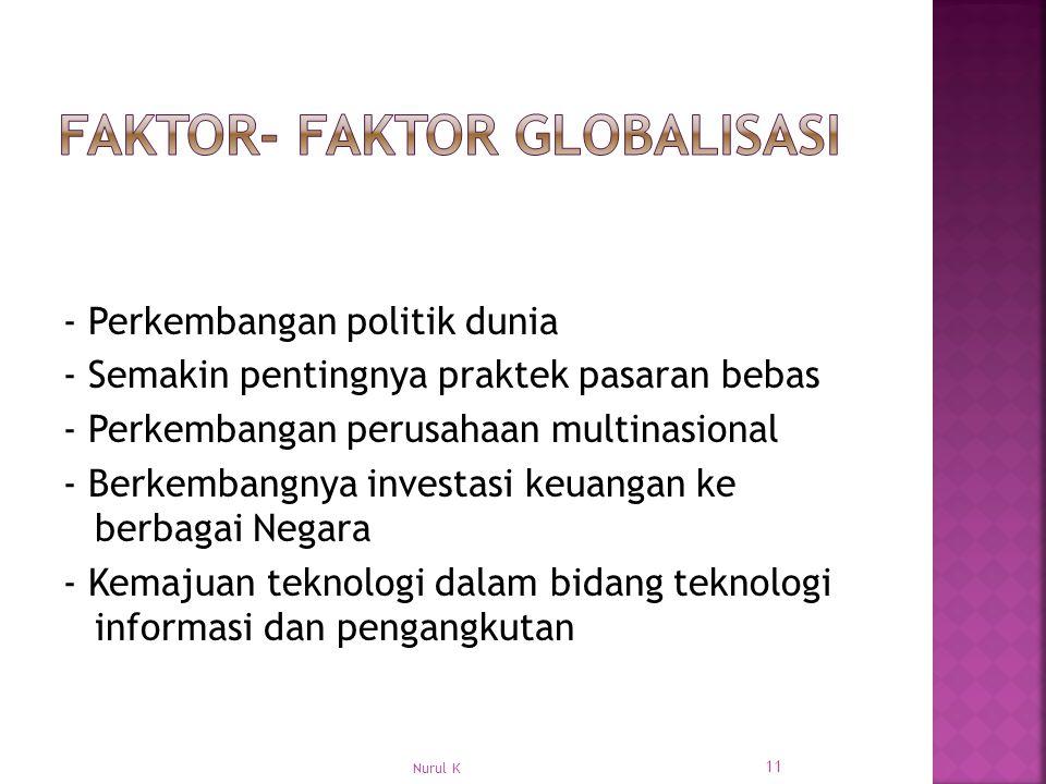 Faktor- Faktor Globalisasi