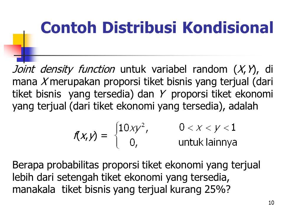Contoh Distribusi Kondisional