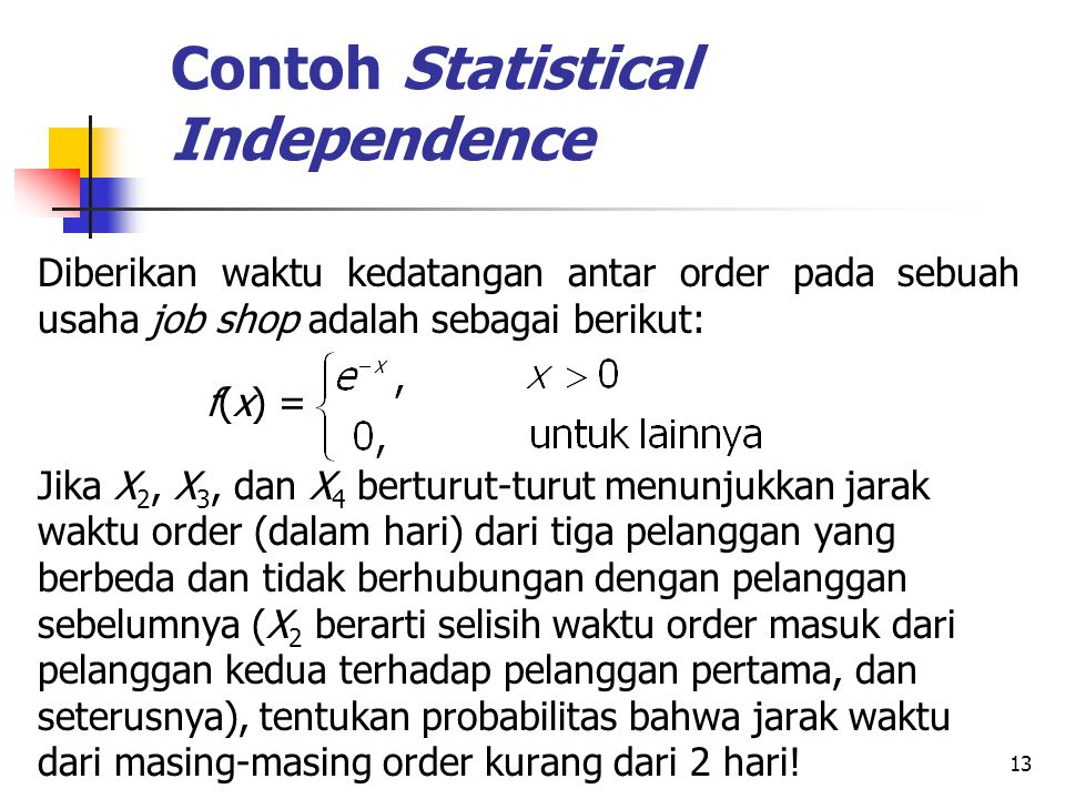 Contoh Statistical Independence