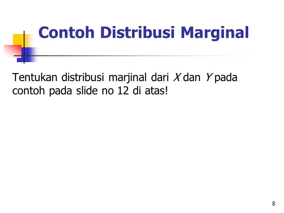 Contoh Distribusi Marginal