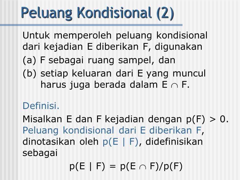 Peluang Kondisional (2)