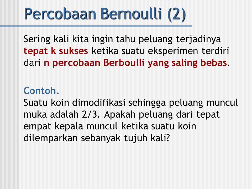 Percobaan Bernoulli (2)