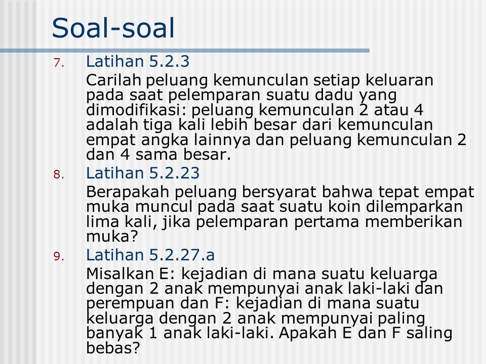 Soal-soal Latihan 5.2.3.