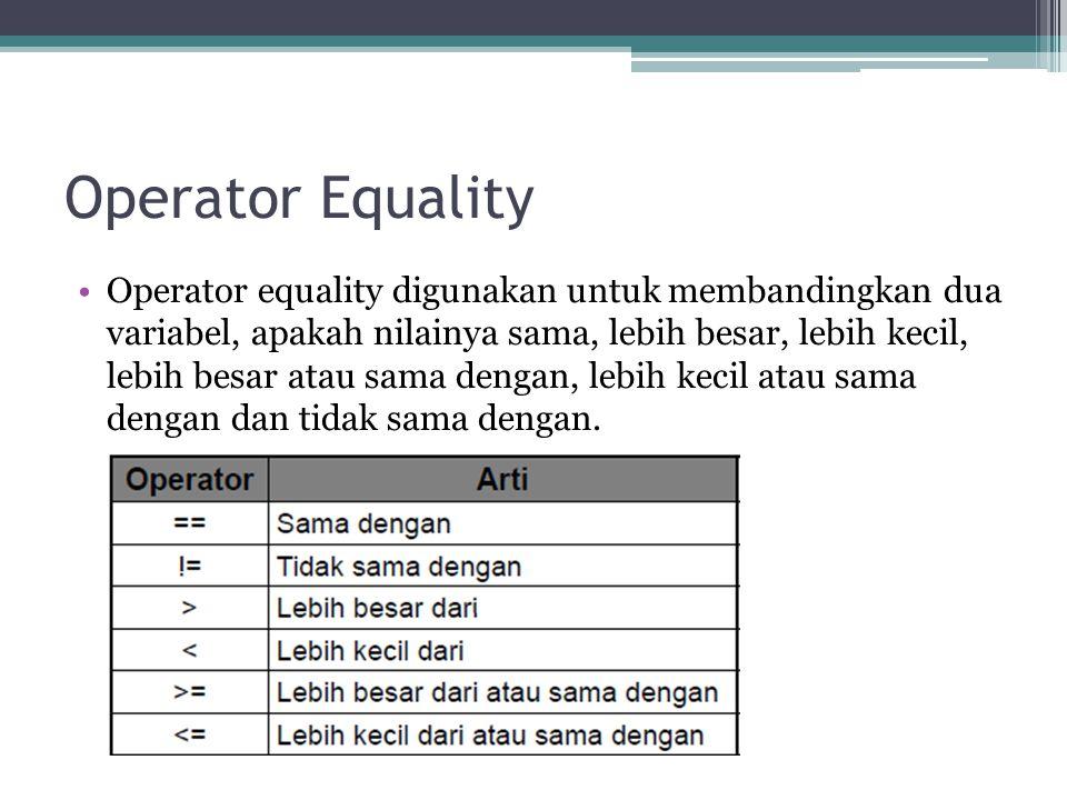 Operator Equality