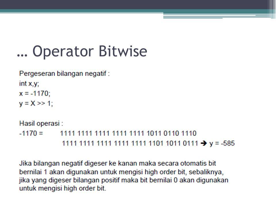 … Operator Bitwise