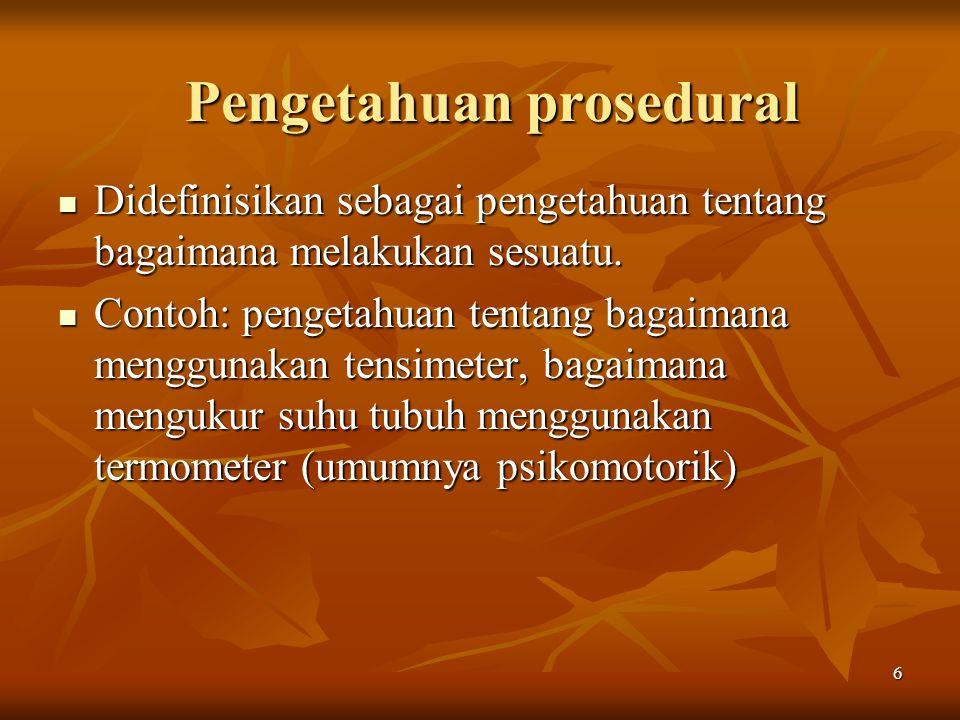 Pengetahuan prosedural
