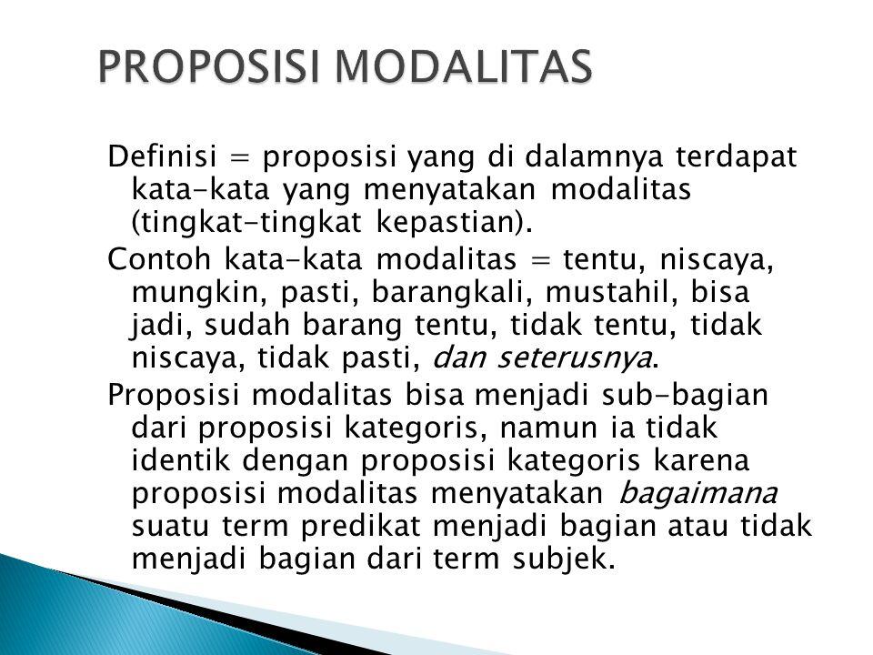 PROPOSISI MODALITAS