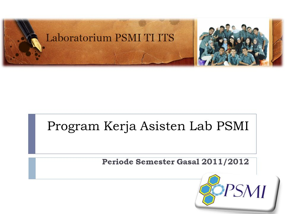 Program Kerja Asisten Lab PSMI