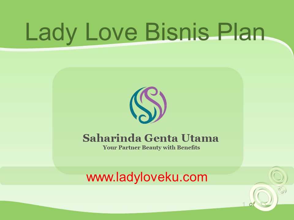 Lady Love Bisnis Plan www.ladyloveku.com