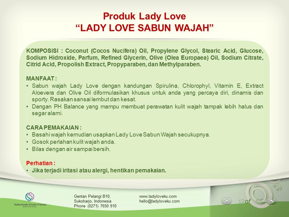 Produk Lady Love LADY LOVE SABUN WAJAH