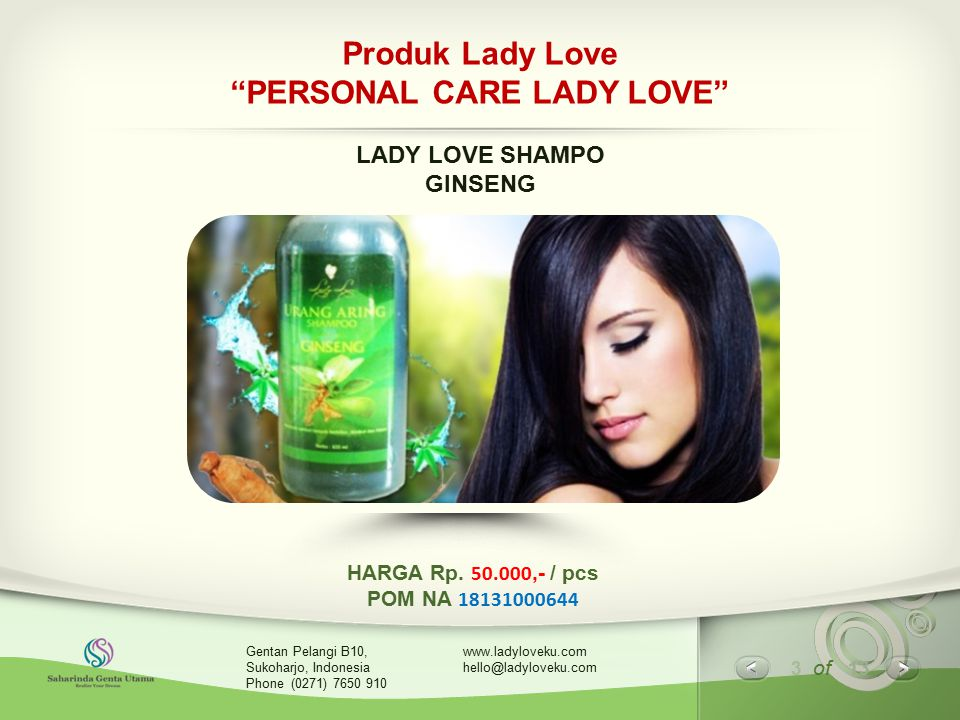 Produk Lady Love PERSONAL CARE LADY LOVE
