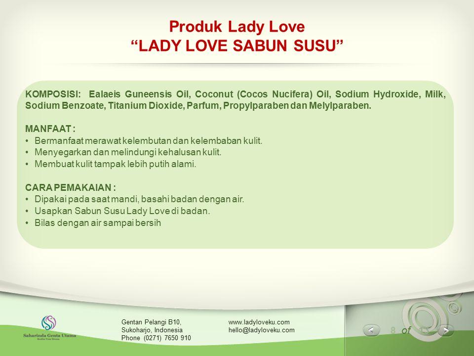 Produk Lady Love LADY LOVE SABUN SUSU