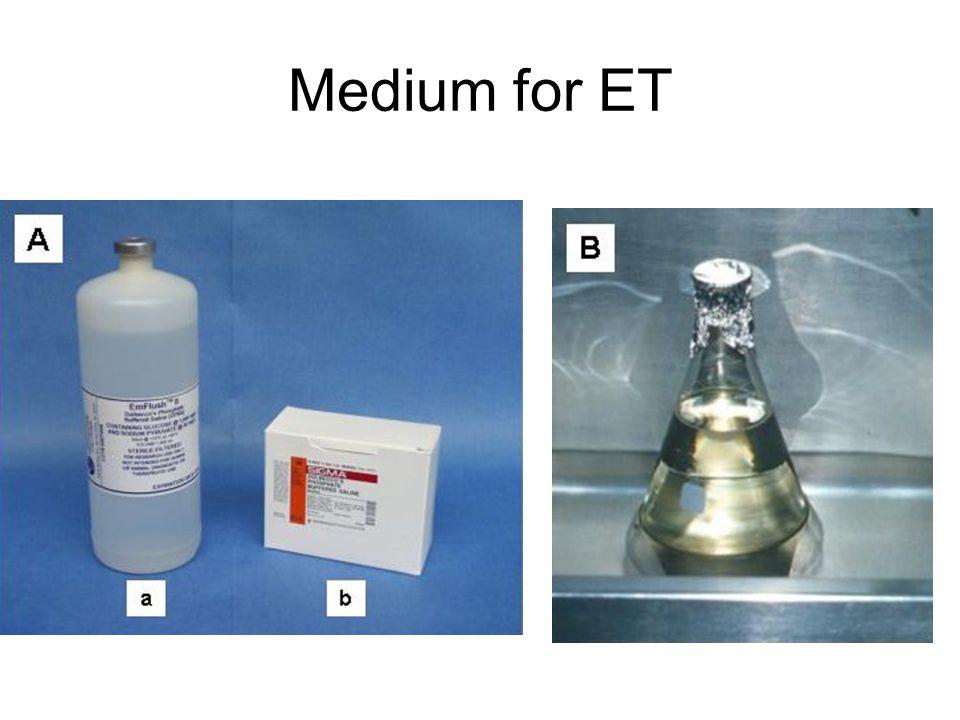 Medium for ET