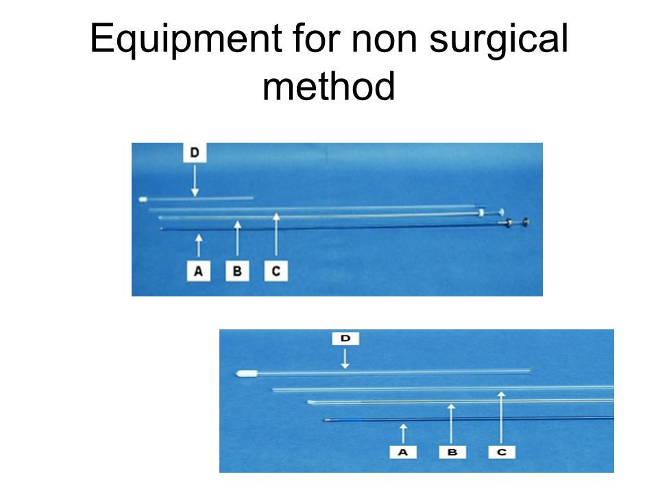 Equipment for non surgical method