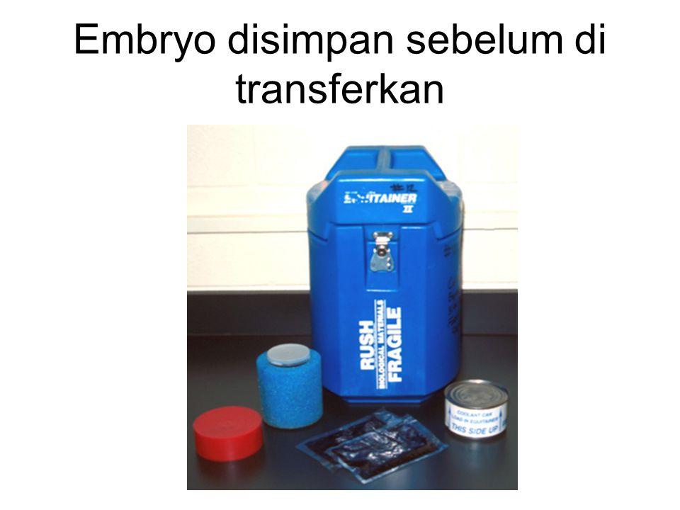 Embryo disimpan sebelum di transferkan