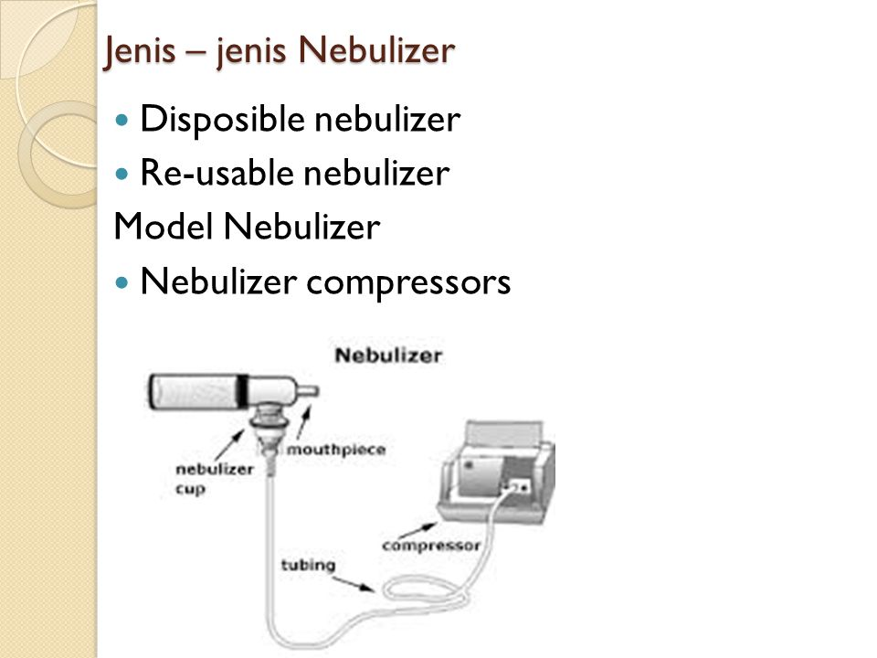 Jenis – jenis Nebulizer