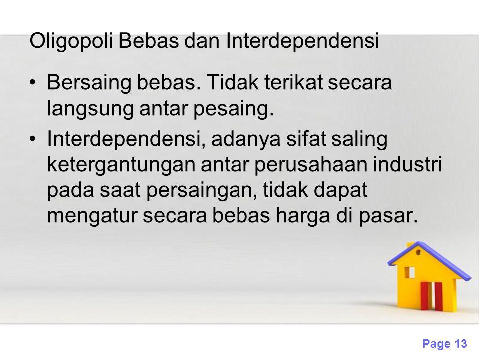 Oligopoli Bebas dan Interdependensi