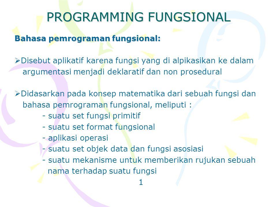 PROGRAMMING FUNGSIONAL