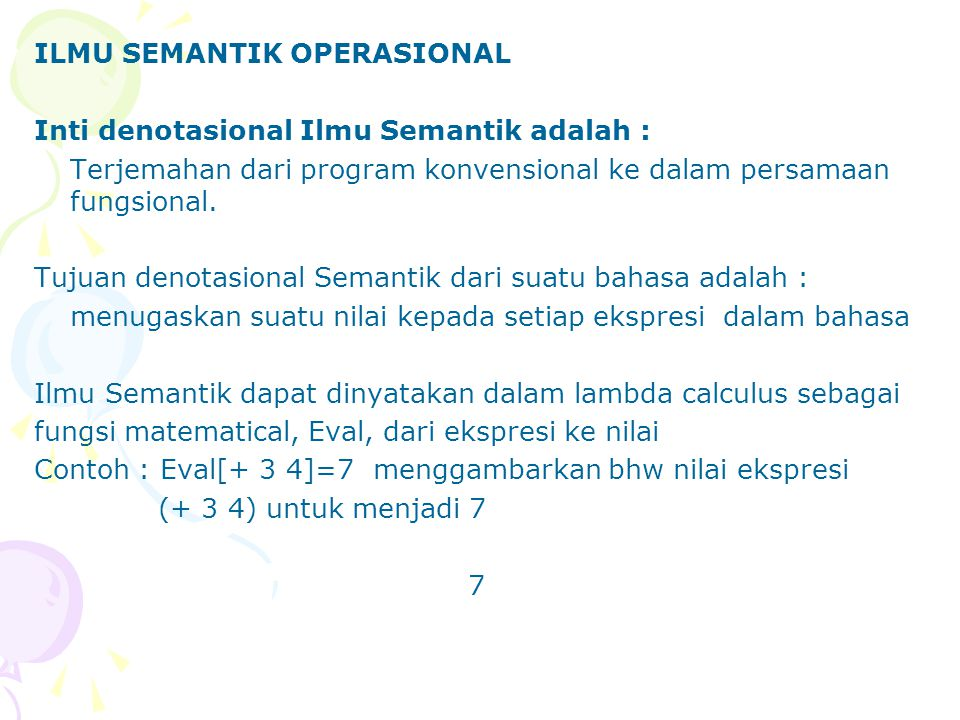 ILMU SEMANTIK OPERASIONAL