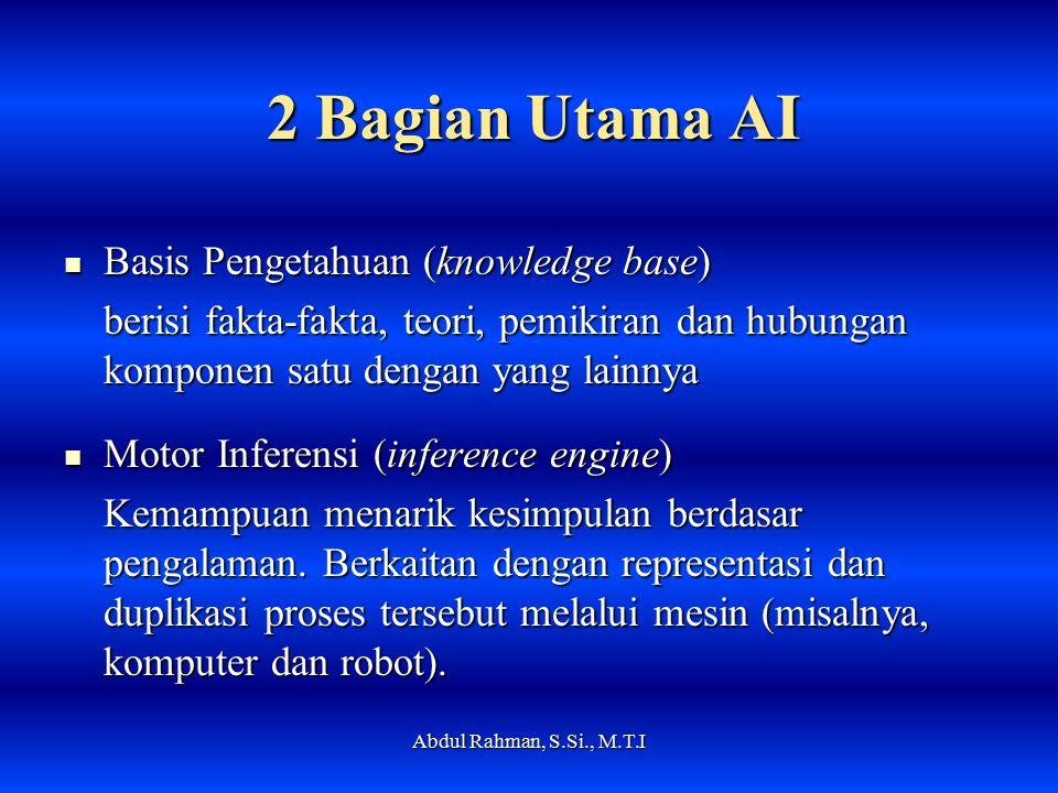 2 Bagian Utama AI Basis Pengetahuan (knowledge base)