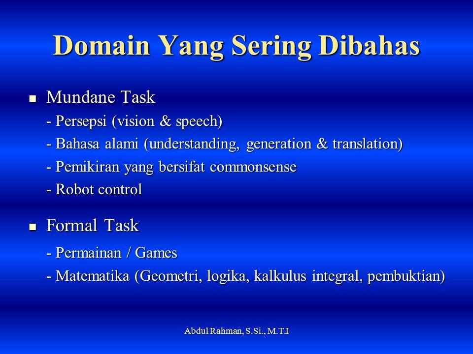 Domain Yang Sering Dibahas