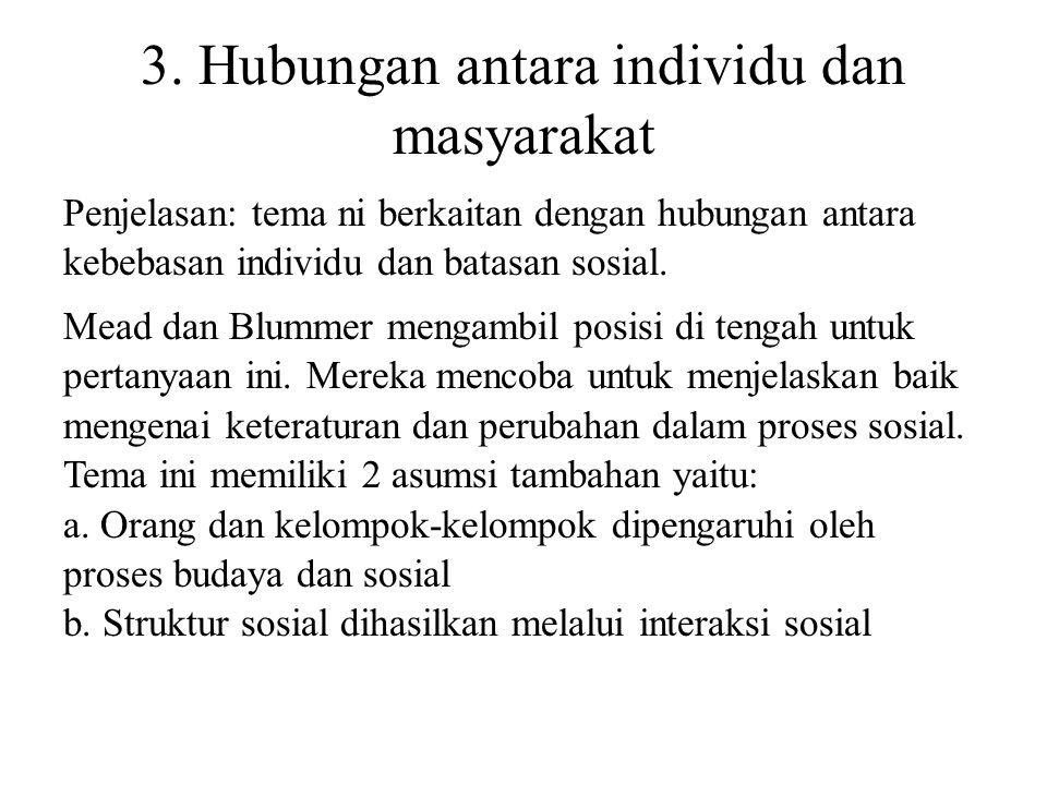3. Hubungan antara individu dan masyarakat