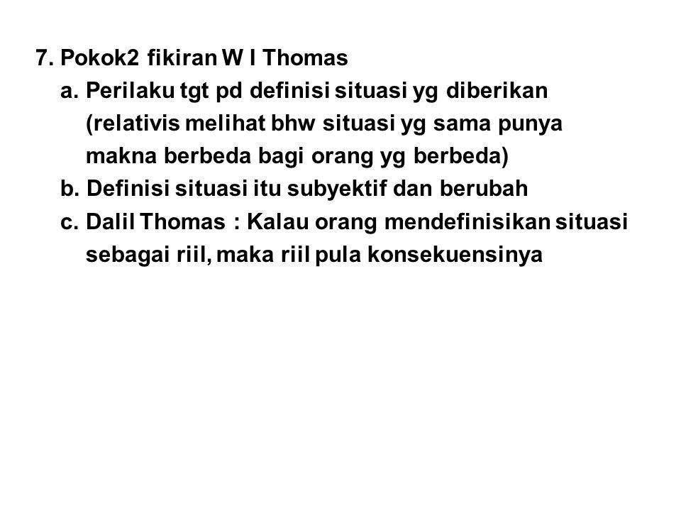7. Pokok2 fikiran W I Thomas