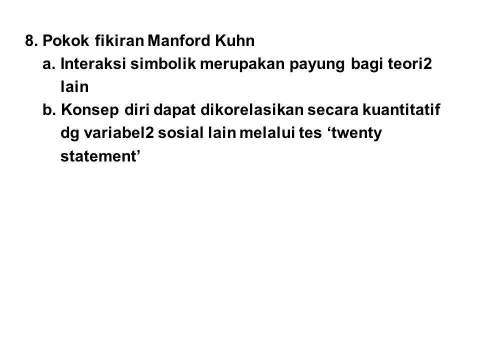 8. Pokok fikiran Manford Kuhn