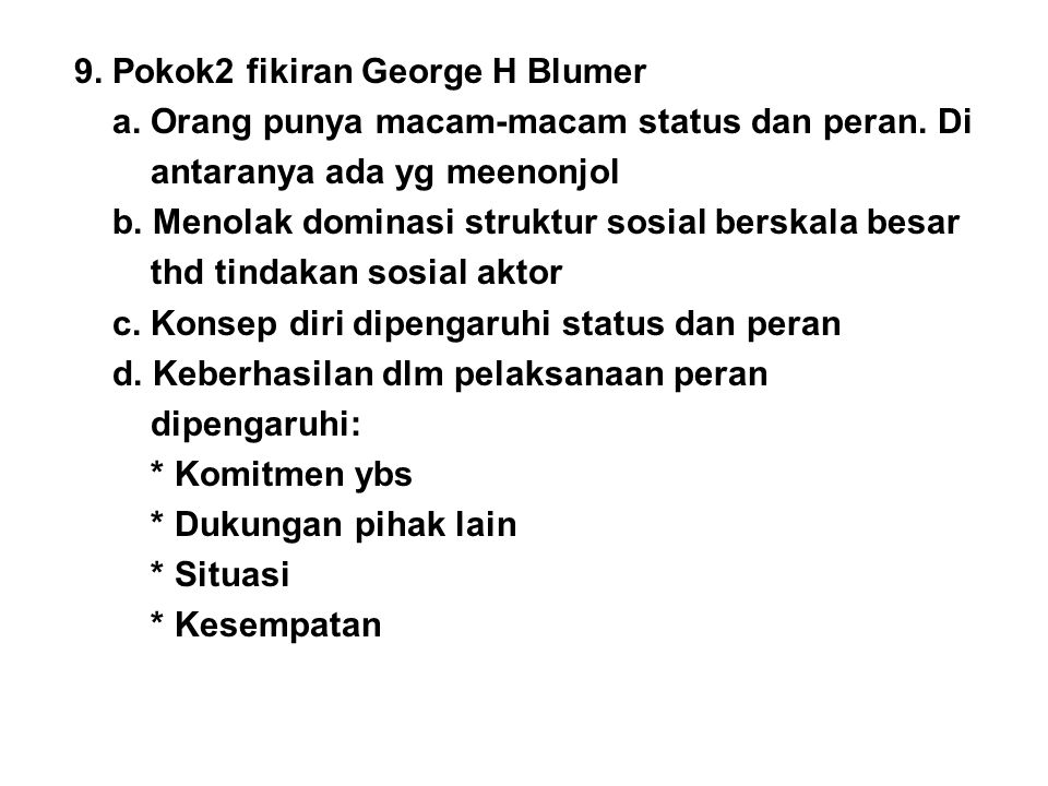 9. Pokok2 fikiran George H Blumer
