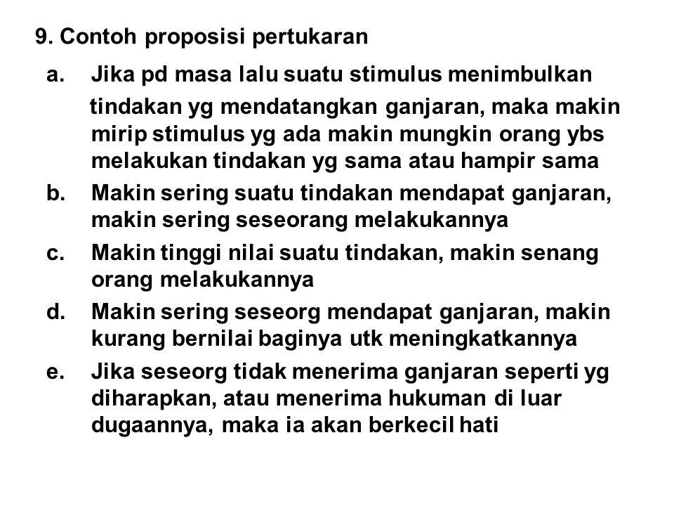 9. Contoh proposisi pertukaran