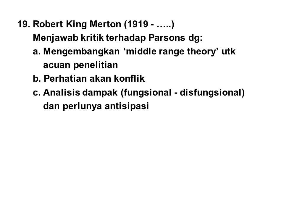 19. Robert King Merton (1919 - …..)