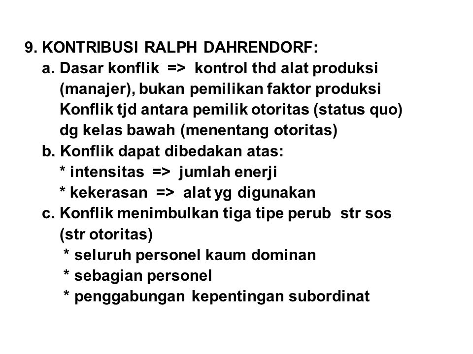 9. KONTRIBUSI RALPH DAHRENDORF: