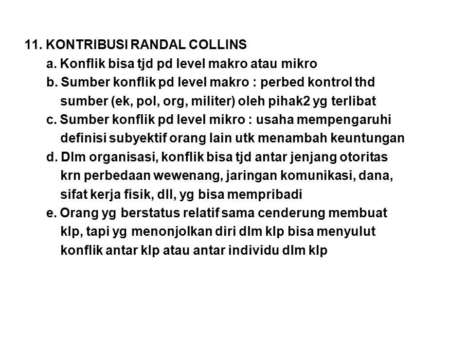 11. KONTRIBUSI RANDAL COLLINS