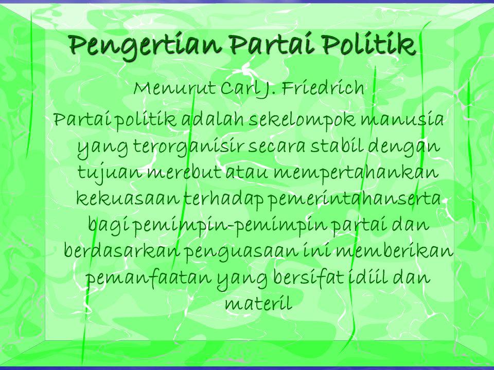 Pengertian Partai Politik