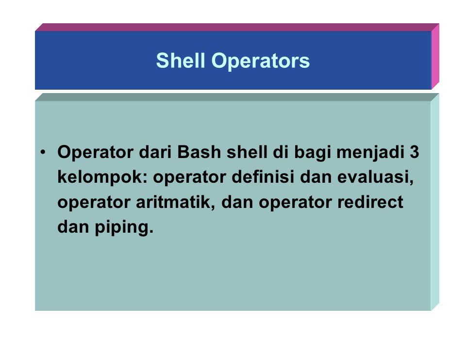 Shell Operators