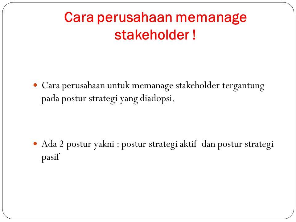 Cara perusahaan memanage stakeholder !