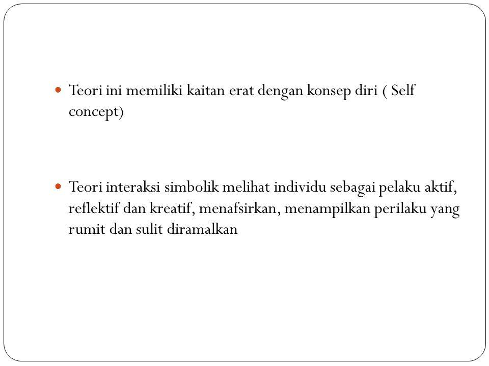 Teori ini memiliki kaitan erat dengan konsep diri ( Self concept)